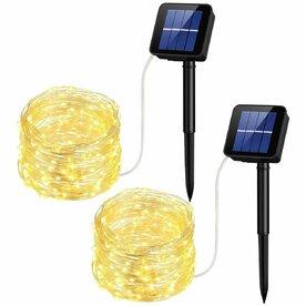 Lampa solara decorativa Mpow, 10 m, 100 LED-uri rezistente la apa