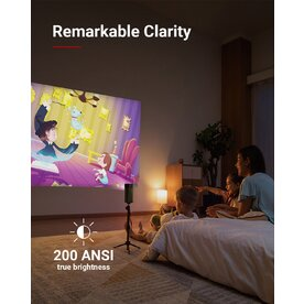 Mini-proiector video portabil smart Anker Nebula Apollo, Wi-Fi, 200 ANSI, Difuzor 6W, Negru