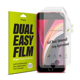 Set 1+1 folie protectie iPhone SE 2 / iPhone 7 / iPhone 8/ iPhone 6 Ringke Dual Easy Film