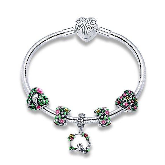 Bratara din argint 925 cu Talismane Spring Flowers