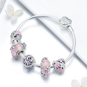 Bratara din argint 925 Garden Pink Daisy
