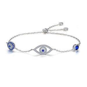 Bratara din argint Blue Eye Crystal Link
