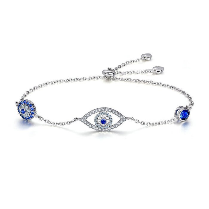 Bratara din argint Blue Eye Crystal Link poza 2021