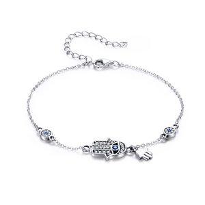 Bratara din argint Fatima Hand Chain