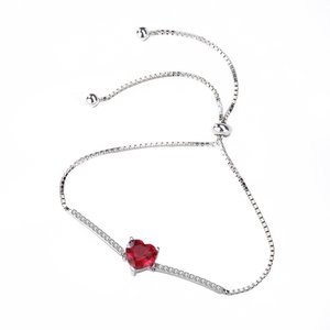 Bratara din argint Romantic Red Heart