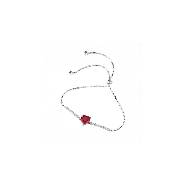 Bratara din argint Romantic Red Heart poza 2021