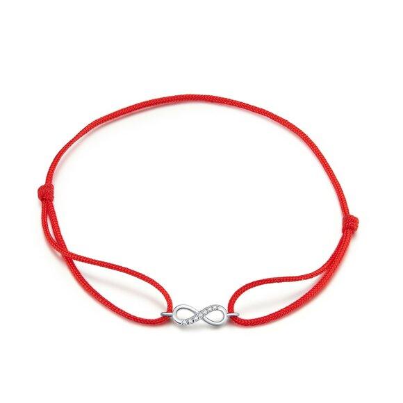 Bratara din snur Red Rope Infinite Gift