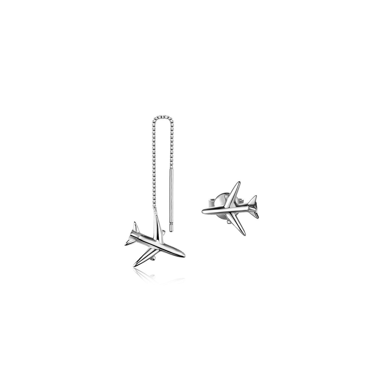 Cercei din argint Airplane Duet poza 2021