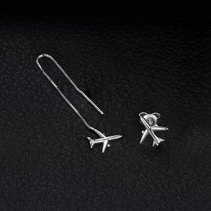 Cercei din argint Airplane Duet
