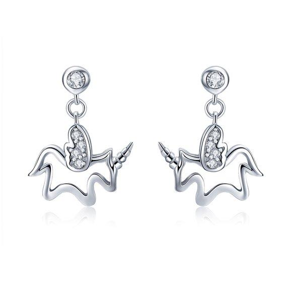 Cercei din argint Baby Unicorn
