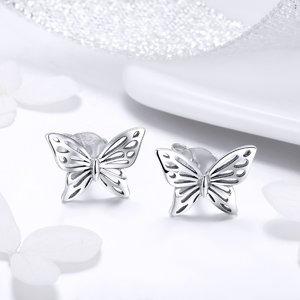 Cercei din argint Beautiful Butterfly
