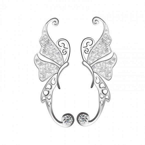 Cercei din argint Big Butterfly