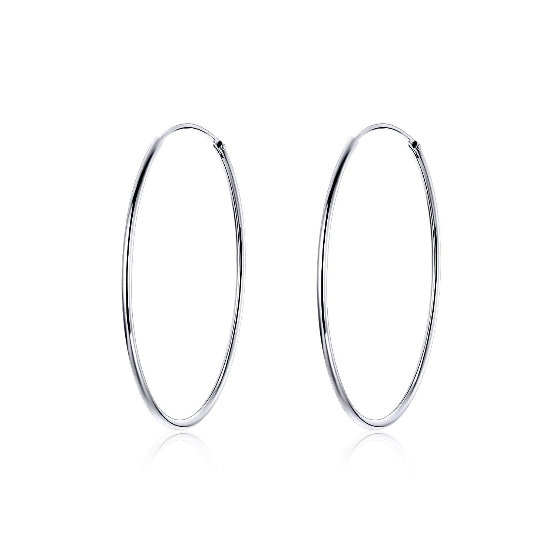 cercei din argint big silver hoops 67539 4
