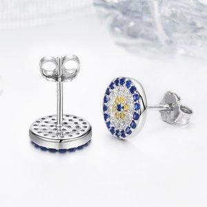 Cercei din argint Blue Eye Flower