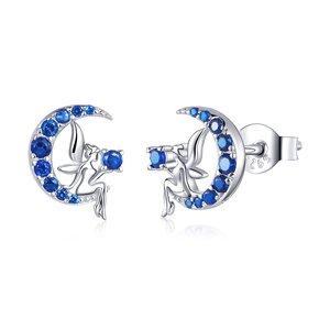 Cercei din argint Blue Fairy
