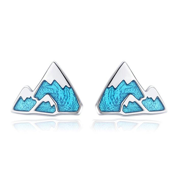 Cercei din argint Blue Iceberg poza 2021