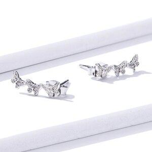 Cercei din argint Butterfly Trio
