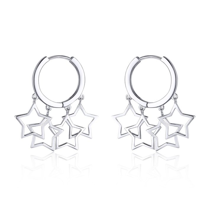 Cercei din argint Chic Silver Stars poza 2021