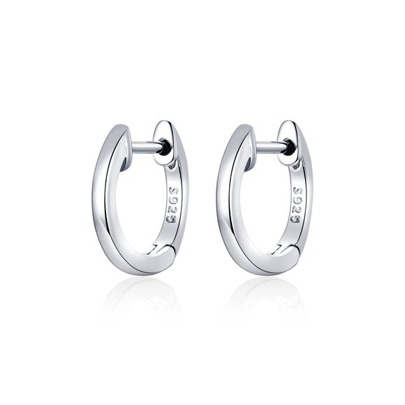 Cercei din argint Classic Small Hoops silver