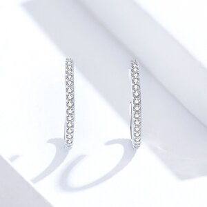 Cercei din argint Crystal Band
