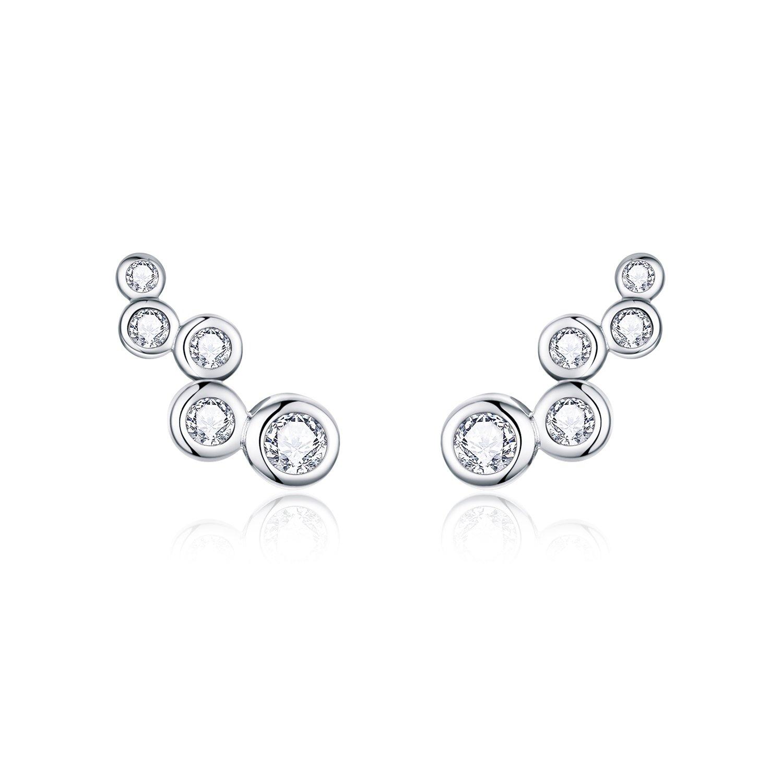 cercei din argint crystal dots 69165 4