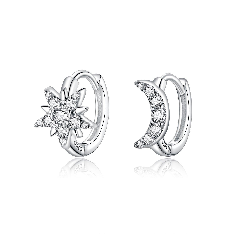 cercei din argint crystal moon and star 69126 4