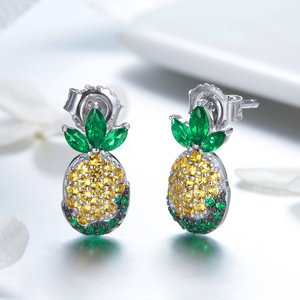 Cercei din argint Crystal Pineapple