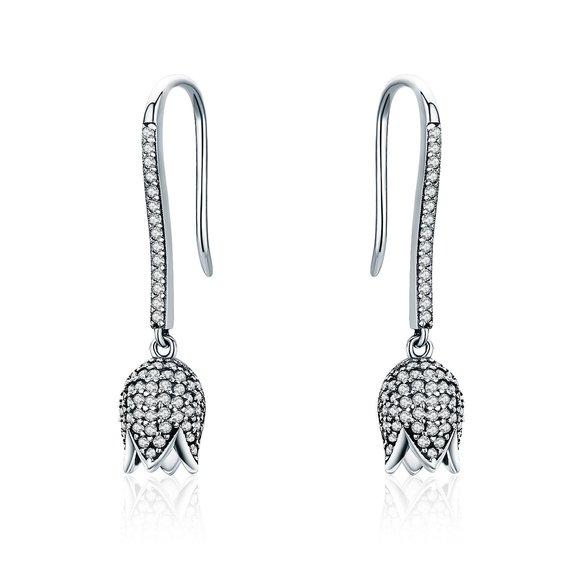 Cercei din argint Crystal Tulips
