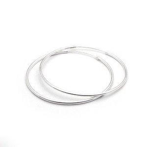 Cercei din argint cu Cercuri Medii