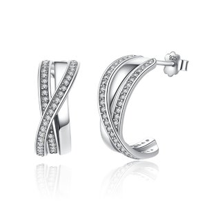 Cercei din argint cu Cristale Impletite