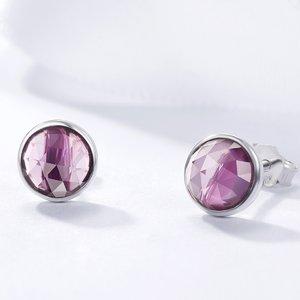 Cercei din argint cu Cristale Mov