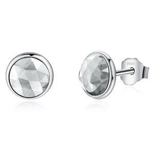Cercei din argint cu Cristale Transparente