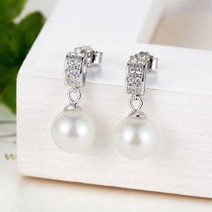 Cercei din argint cu Perlute si Cristale