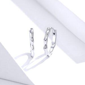 Cercei din argint Curled Hoops
