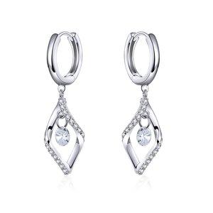 Cercei din argint Dangle Crystal Earrings