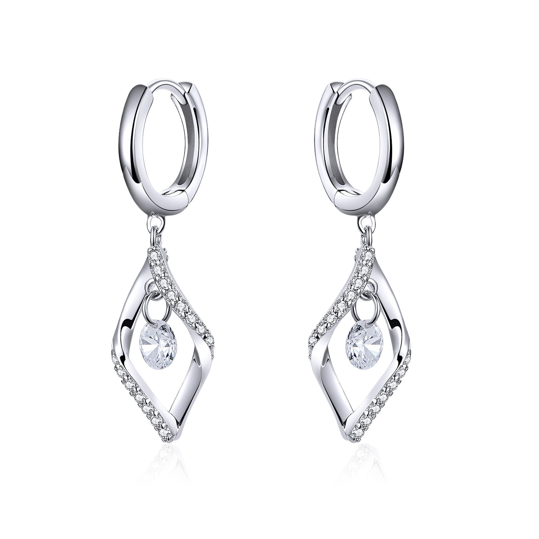 cercei din argint dangle crystal earrings 68205 4