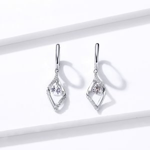 Cercei din argint Dangle Crystal Earrings