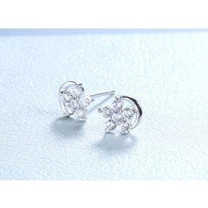 Cercei din argint Diamond Stars