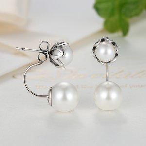 Cercei din argint Double Fancy Pearl