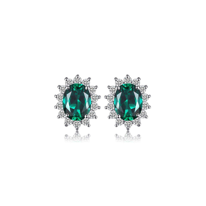 cercei din argint elegant emerald 65742 4