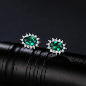 Cercei din argint Elegant Emerald