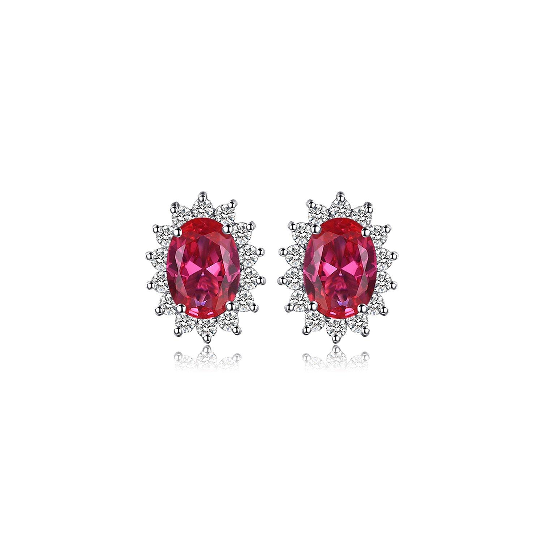 cercei din argint elegant ruby 65790 4