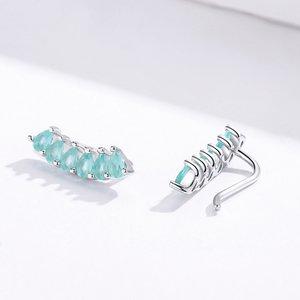 Cercei din argint Emerald Arc Studs