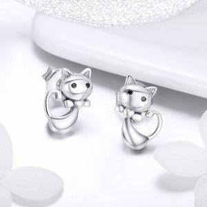 Cercei din argint Fairy Tail Cats