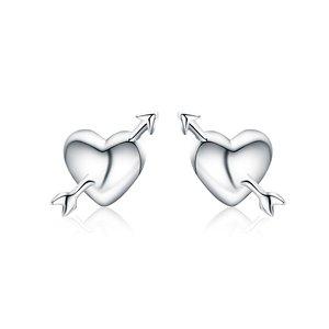Cercei din argint Fall in Love Studs