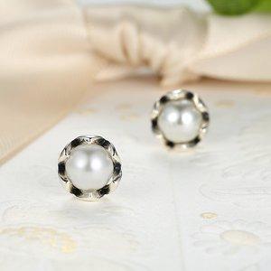 Cercei din argint Fancy Pearl silver