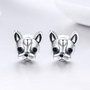 Cercei din argint French Bulldog