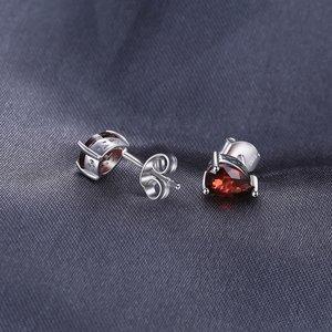 Cercei din argint Garnet Drop