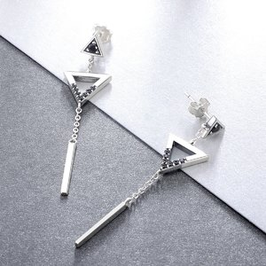 Cercei din argint Geometric Drop