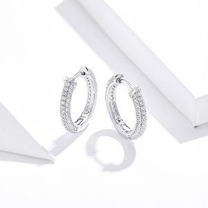 Cercei din argint Glamour Hoops